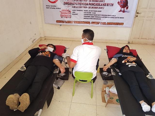 Aksi Donor Darah di MAKO KOTI MPW Pemuda Pancasila